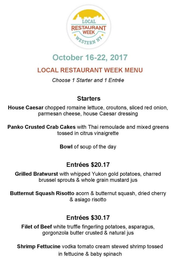 2017 Fall Restaurant Week